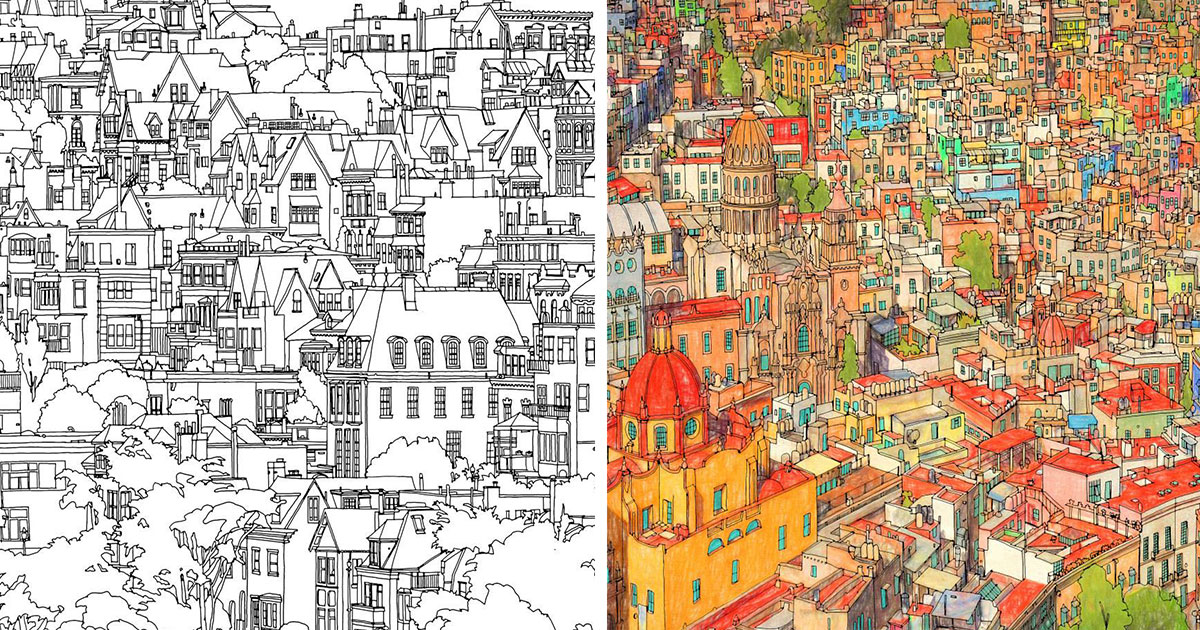 Fantastic Cities Coloring Book Review Trendbreakdown Lifestyle Adult Books