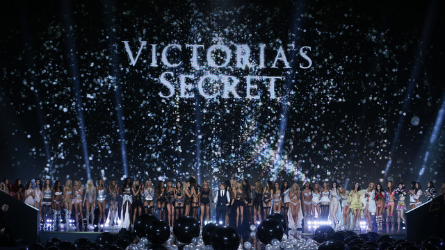 Models walk the runway at the 2014 Victoria's Secret Fashion Show in London on December 2nd, 2014